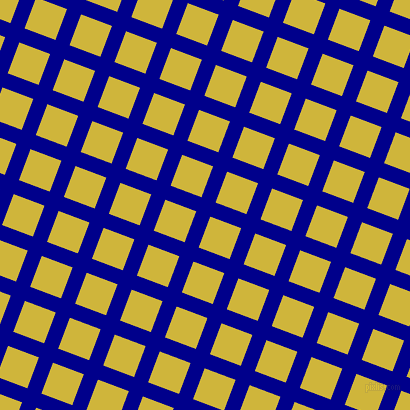 69/159 degree angle diagonal checkered chequered lines, 15 pixel lines width, 33 pixel square size, Dark Blue and Old Gold plaid checkered seamless tileable