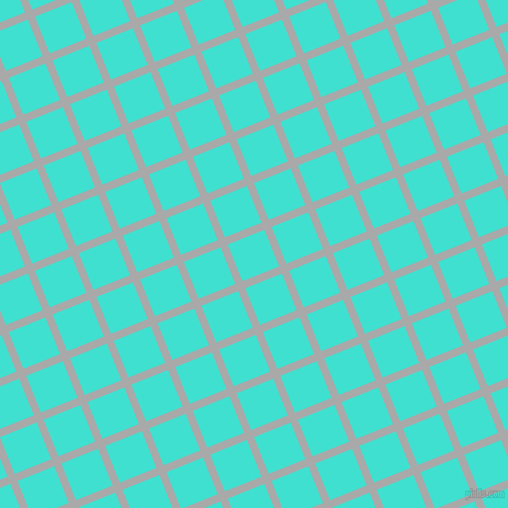 22/112 degree angle diagonal checkered chequered lines, 7 pixel lines width, 36 pixel square size, Dark Gray and Turquoise plaid checkered seamless tileable
