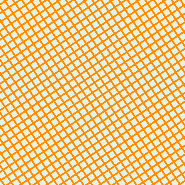 34/124 degree angle diagonal checkered chequered lines, 6 pixel line width, 19 pixel square size, Dark Orange and Frosted Mint plaid checkered seamless tileable