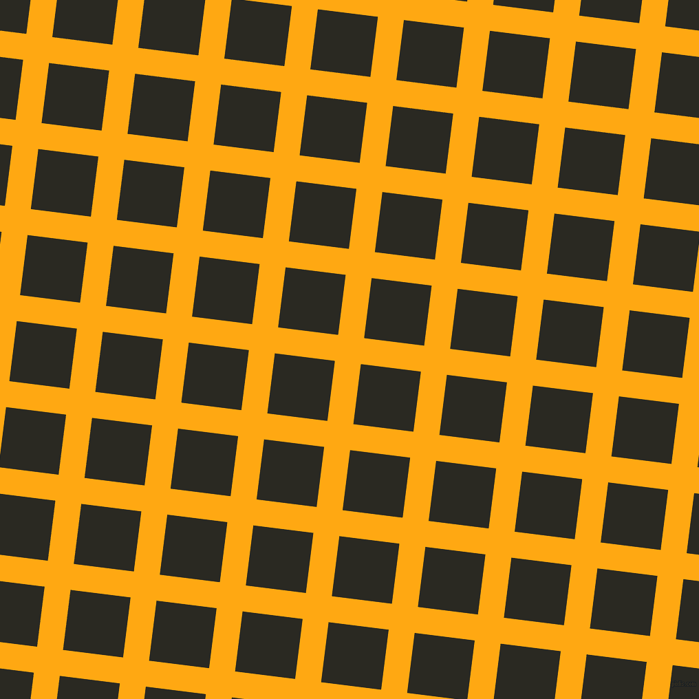 83/173 degree angle diagonal checkered chequered lines, 38 pixel lines width, 88 pixel square size, Dark Tangerine and Maire plaid checkered seamless tileable