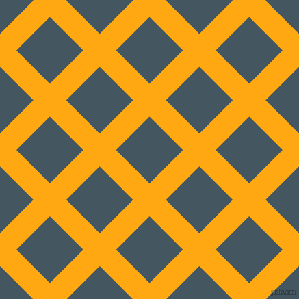 45/135 degree angle diagonal checkered chequered lines, 34 pixel lines width, 69 pixel square size, Dark Tangerine and San Juan plaid checkered seamless tileable