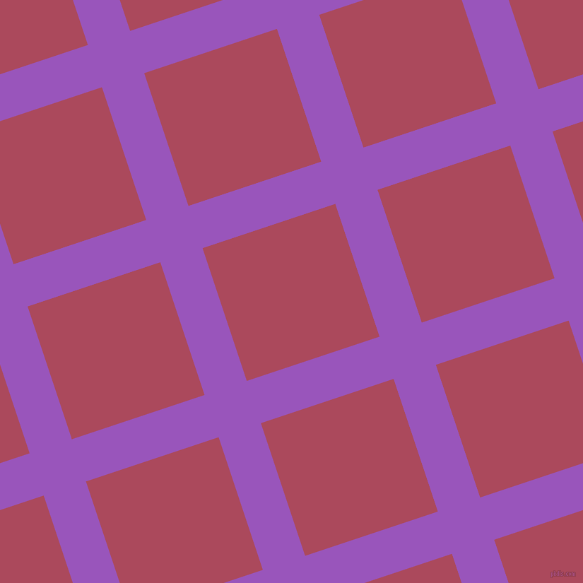 18/108 degree angle diagonal checkered chequered lines, 63 pixel lines width, 198 pixel square size, Deep Lilac and Hippie Pink plaid checkered seamless tileable