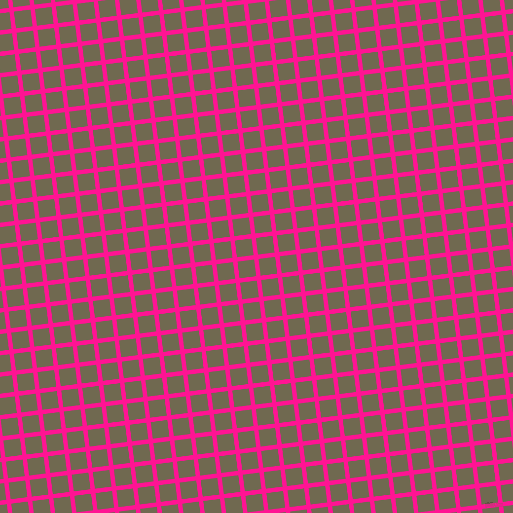 7/97 degree angle diagonal checkered chequered lines, 9 pixel line width, 34 pixel square size, Deep Pink and Crocodile plaid checkered seamless tileable