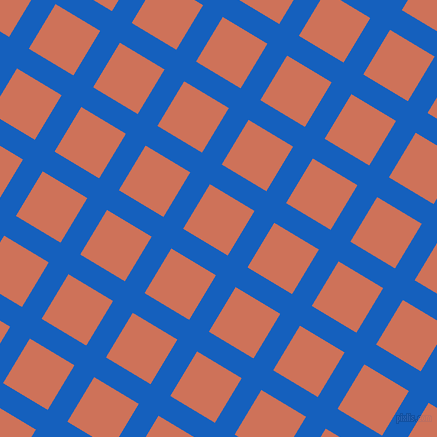 59/149 degree angle diagonal checkered chequered lines, 23 pixel lines width, 52 pixel square size, Denim and Japonica plaid checkered seamless tileable