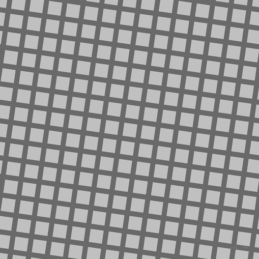 82/172 degree angle diagonal checkered chequered lines, 10 pixel line width, 26 pixel square size, Dim Gray and Silver plaid checkered seamless tileable