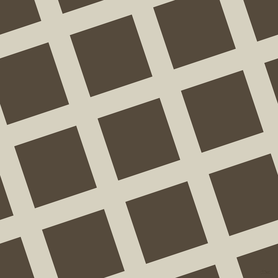 18/108 degree angle diagonal checkered chequered lines, 72 pixel lines width, 209 pixel square size, Ecru White and Metallic Bronze plaid checkered seamless tileable
