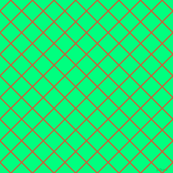 45/135 degree angle diagonal checkered chequered lines, 4 pixel line width, 47 pixel square sizeEcstasy and Spring Green plaid checkered seamless tileable