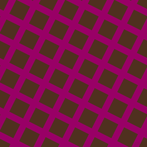 63/153 degree angle diagonal checkered chequered lines, 22 pixel line width, 52 pixel square size, Eggplant and Indian Tan plaid checkered seamless tileable
