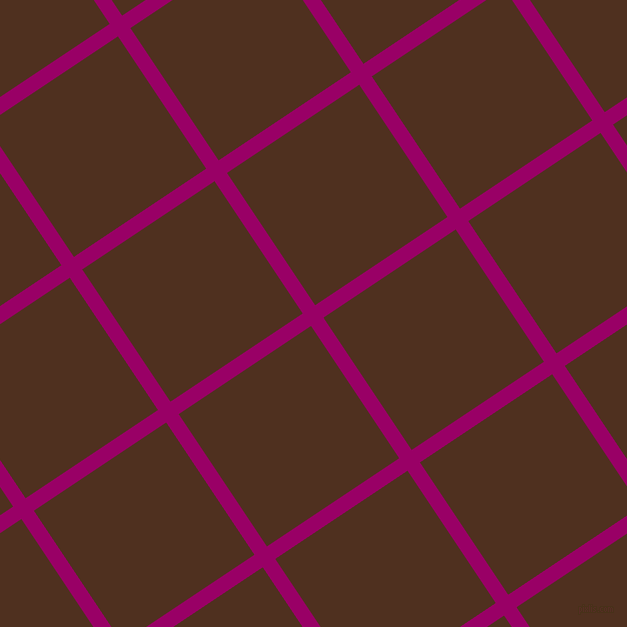 34/124 degree angle diagonal checkered chequered lines, 15 pixel lines width, 159 pixel square size, Eggplant and Indian Tan plaid checkered seamless tileable
