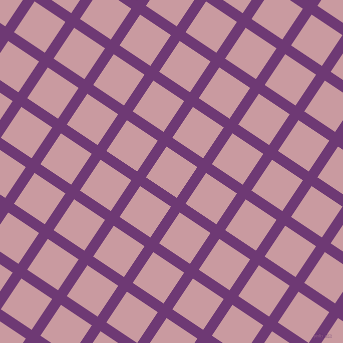 56/146 degree angle diagonal checkered chequered lines, 21 pixel lines width, 74 pixel square size, Eminence and Careys Pink plaid checkered seamless tileable