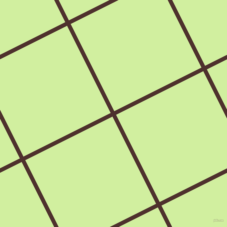 27/117 degree angle diagonal checkered chequered lines, 14 pixel line width, 342 pixel square size, Espresso and Reef plaid checkered seamless tileable