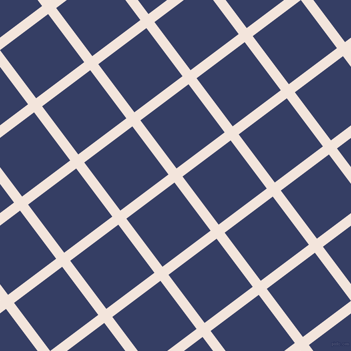 37/127 degree angle diagonal checkered chequered lines, 20 pixel line width, 120 pixel square size, Fair Pink and Bay Of Many plaid checkered seamless tileable