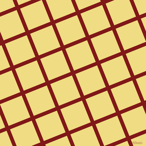 22/112 degree angle diagonal checkered chequered lines, 13 pixel lines width, 82 pixel square size, Falu Red and Buff plaid checkered seamless tileable