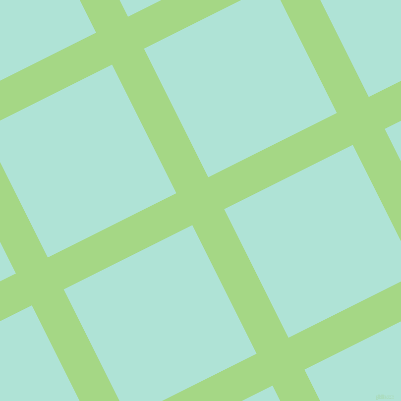 27/117 degree angle diagonal checkered chequered lines, 72 pixel lines width, 290 pixel square size, Feijoa and Ice Cold plaid checkered seamless tileable