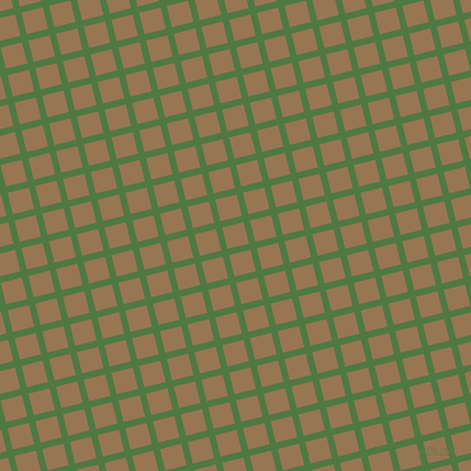 14/104 degree angle diagonal checkered chequered lines, 6 pixel line width, 20 pixel square sizeFern Green and Pale Brown plaid checkered seamless tileable