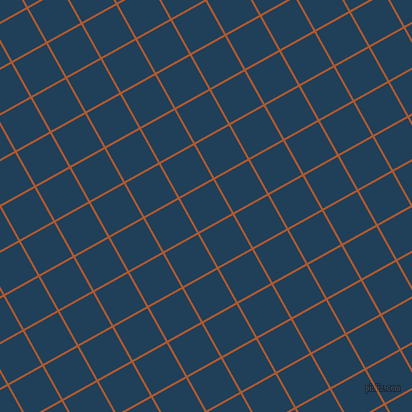 29/119 degree angle diagonal checkered chequered lines, 2 pixel lines width, 38 pixel square size, Fiery Orange and Regal Blue plaid checkered seamless tileable