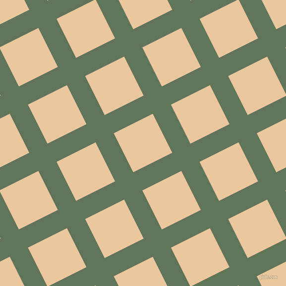 27/117 degree angle diagonal checkered chequered lines, 41 pixel lines width, 88 pixel square size, Finlandia and New Tan plaid checkered seamless tileable