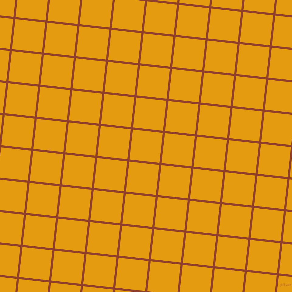 84/174 degree angle diagonal checkered chequered lines, 7 pixel lines width, 99 pixel square size, Fire and Gamboge plaid checkered seamless tileable