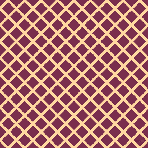45/135 degree angle diagonal checkered chequered lines, 10 pixel line width, 34 pixel square size, Frangipani and Flirt plaid checkered seamless tileable
