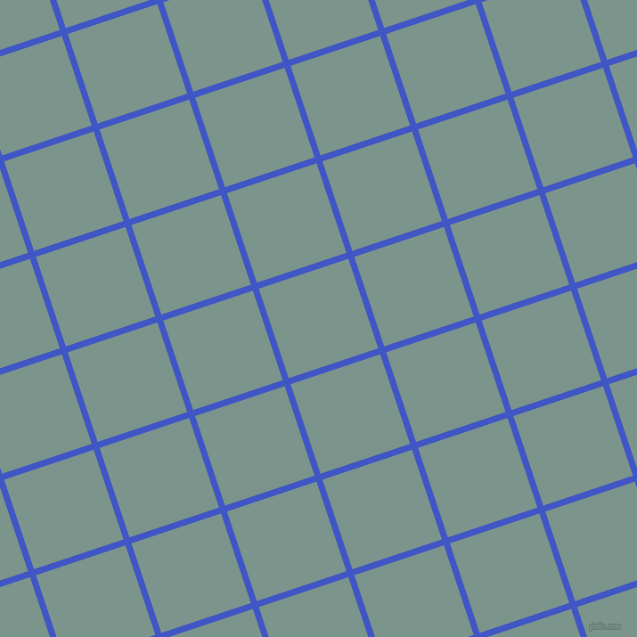 18/108 degree angle diagonal checkered chequered lines, 7 pixel lines width, 106 pixel square size, Free Speech Blue and Granny Smith plaid checkered seamless tileable