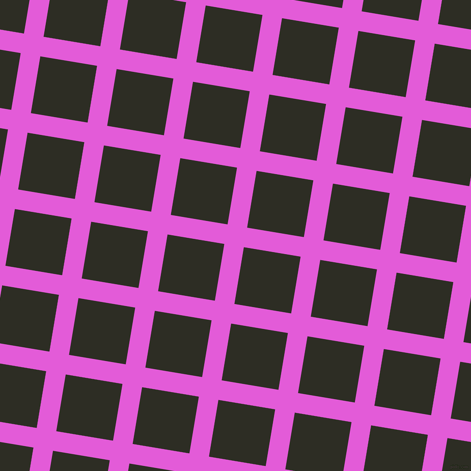 81/171 degree angle diagonal checkered chequered lines, 39 pixel lines width, 113 pixel square size, Free Speech Magenta and Karaka plaid checkered seamless tileable