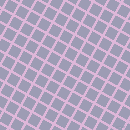 61/151 degree angle diagonal checkered chequered lines, 10 pixel lines width, 43 pixel square size, French Lilac and Logan plaid checkered seamless tileable