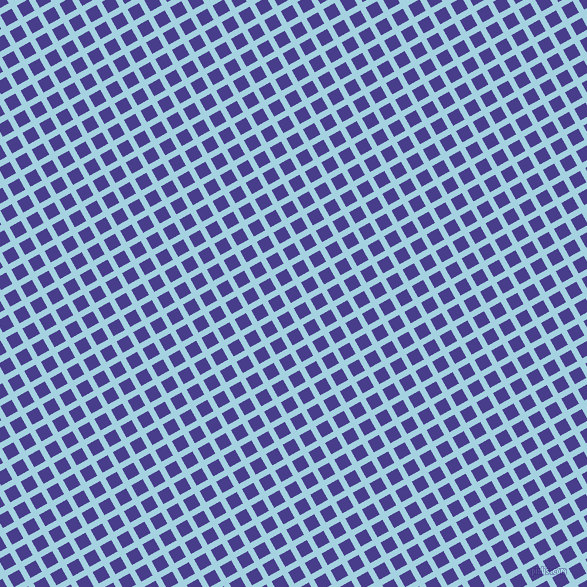 29/119 degree angle diagonal checkered chequered lines, 6 pixel lines width, 13 pixel square size, French Pass and Dark Slate Blue plaid checkered seamless tileable