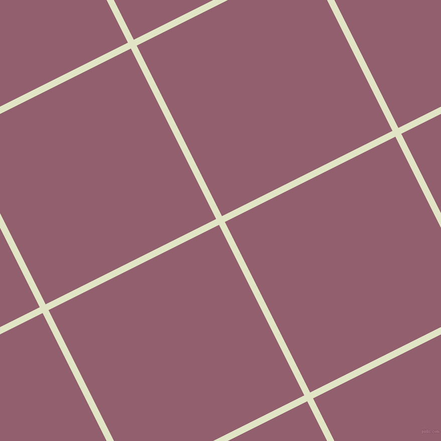 27/117 degree angle diagonal checkered chequered lines, 13 pixel lines width, 380 pixel square size, Frost and Mauve Taupe plaid checkered seamless tileable