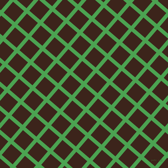 49/139 degree angle diagonal checkered chequered lines, 12 pixel line width, 46 pixel square size, Fruit Salad and Brown Pod plaid checkered seamless tileable