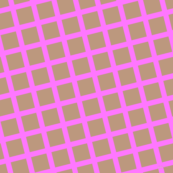 14/104 degree angle diagonal checkered chequered lines, 17 pixel line width, 51 pixel square size, Fuchsia Pink and Pale Taupe plaid checkered seamless tileable
