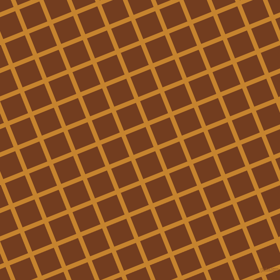 22/112 degree angle diagonal checkered chequered lines, 9 pixel lines width, 43 pixel square size, Geebung and Peru Tan plaid checkered seamless tileable