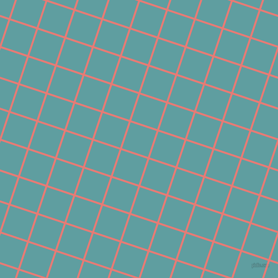 72/162 degree angle diagonal checkered chequered lines, 4 pixel line width, 56 pixel square size, Geraldine and Cadet Blue plaid checkered seamless tileable