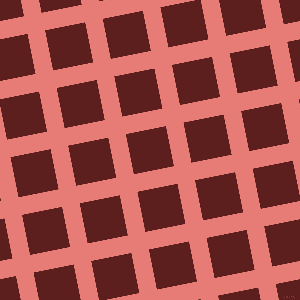 11/101 degree angle diagonal checkered chequered lines, 60 pixel lines width, 137 pixel square size, Geraldine and Red Oxide plaid checkered seamless tileable