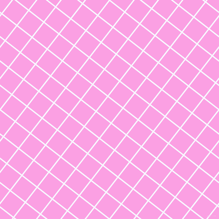 52/142 degree angle diagonal checkered chequered lines, 5 pixel lines width, 69 pixel square size, Ghost White and Lavender Rose plaid checkered seamless tileable