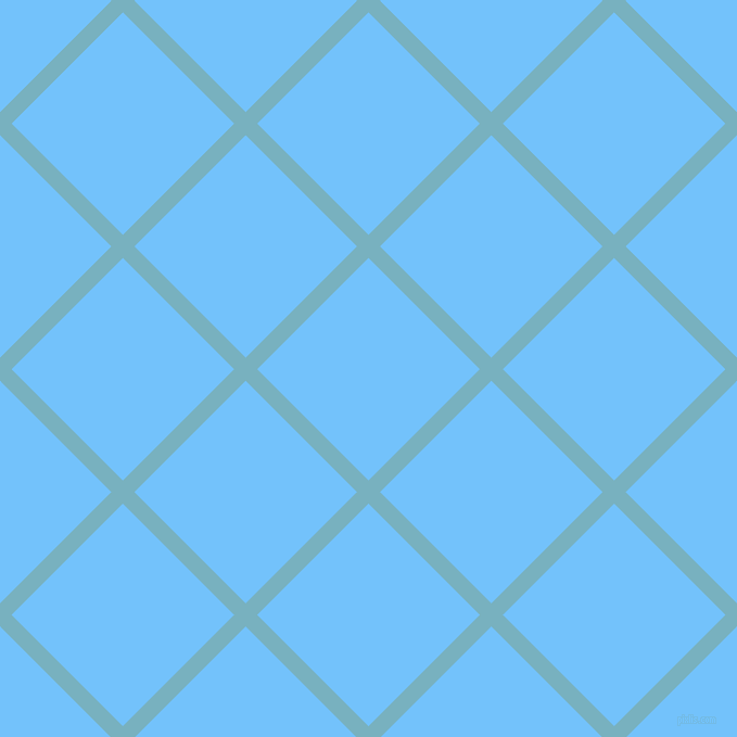 45/135 degree angle diagonal checkered chequered lines, 15 pixel line width, 145 pixel square size, Glacier and Maya Blue plaid checkered seamless tileable