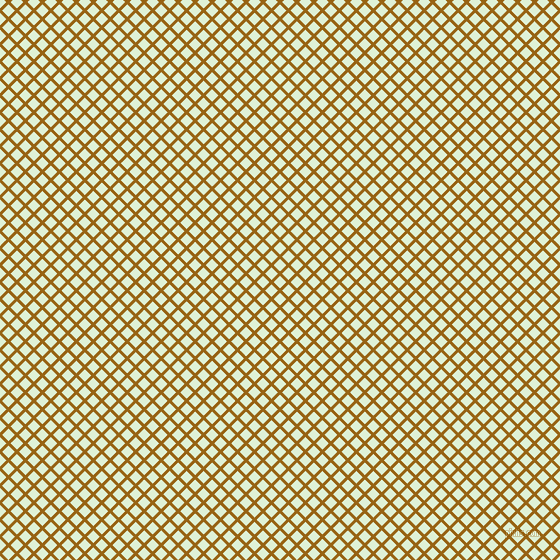 45/135 degree angle diagonal checkered chequered lines, 3 pixel lines width, 9 pixel square size, Golden Brown and Hint Of Green plaid checkered seamless tileable