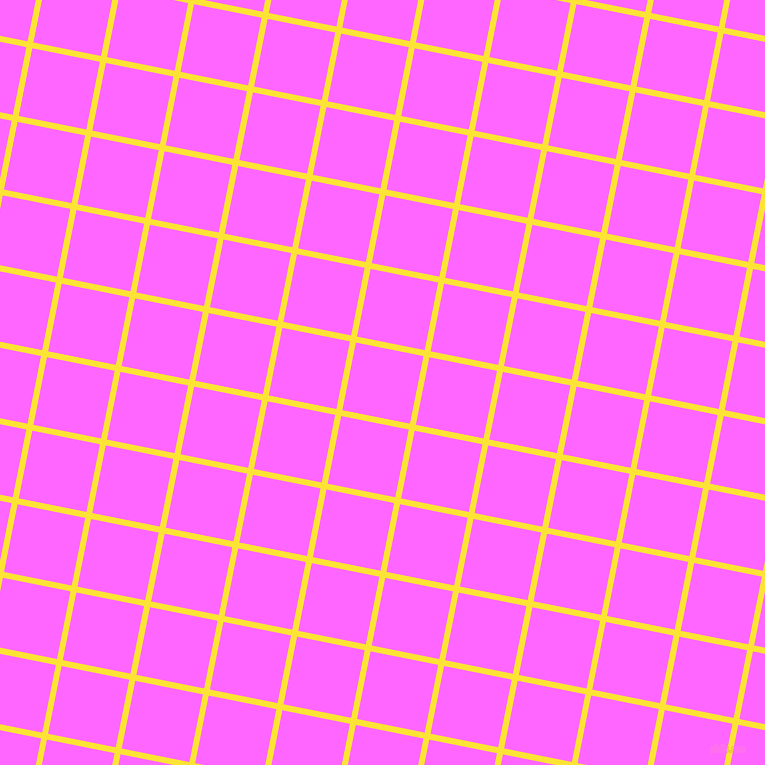 79/169 degree angle diagonal checkered chequered lines, 6 pixel lines width, 69 pixel square size, Gorse and Pink Flamingo plaid checkered seamless tileable
