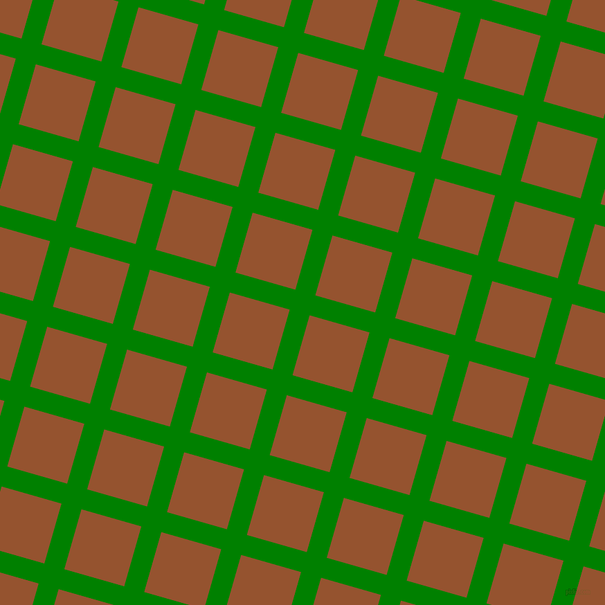 74/164 degree angle diagonal checkered chequered lines, 30 pixel lines width, 90 pixel square size, Green and Chelsea Gem plaid checkered seamless tileable