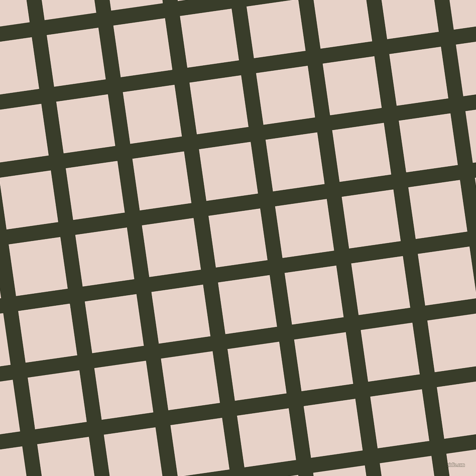 8/98 degree angle diagonal checkered chequered lines, 30 pixel line width, 104 pixel square size, Green Kelp and Bizarre plaid checkered seamless tileable