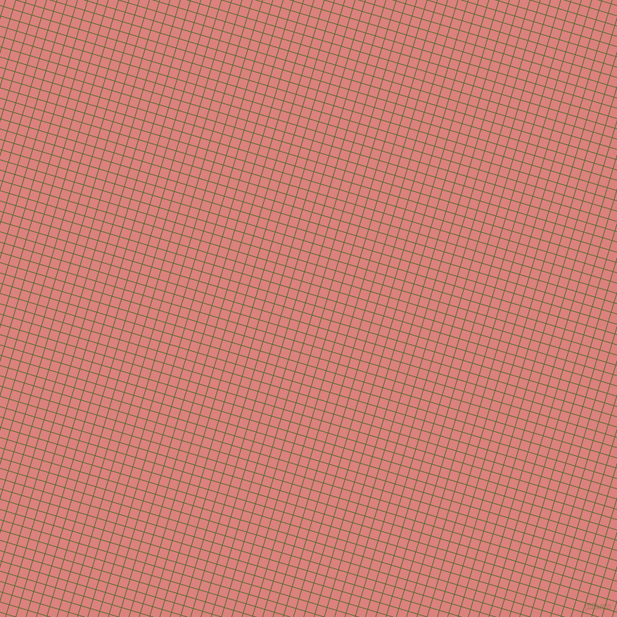 73/163 degree angle diagonal checkered chequered lines, 1 pixel lines width, 13 pixel square size, Green Leaf and Sea Pink plaid checkered seamless tileable