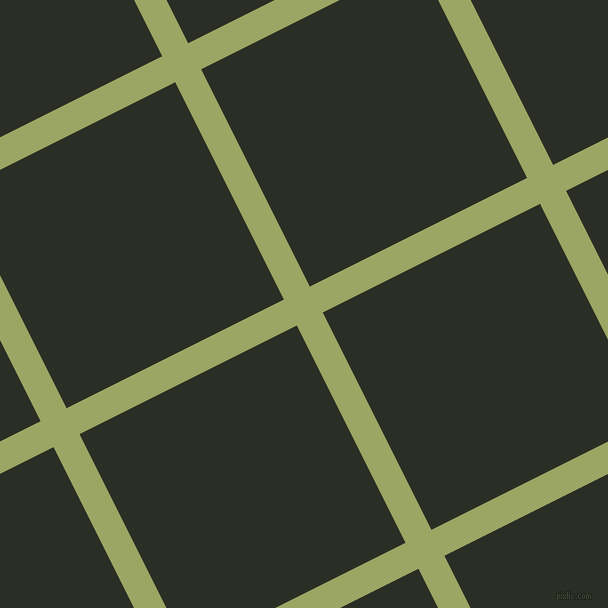 27/117 degree angle diagonal checkered chequered lines, 29 pixel line width, 243 pixel square size, Green Smoke and Rangoon Green plaid checkered seamless tileable