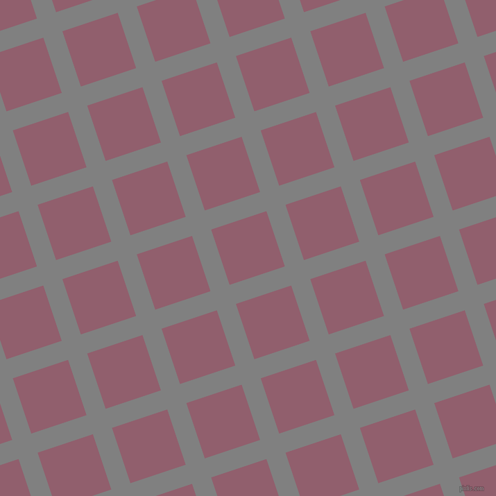 18/108 degree angle diagonal checkered chequered lines, 29 pixel lines width, 84 pixel square size, Grey and Mauve Taupe plaid checkered seamless tileable