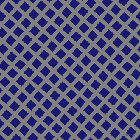 48/138 degree angle diagonal checkered chequered lines, 13 pixel lines width, 26 pixel square size, Grey and Midnight Blue plaid checkered seamless tileable