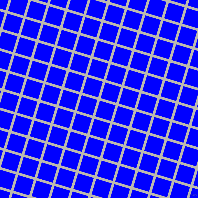 73/163 degree angle diagonal checkered chequered lines, 9 pixel lines width, 56 pixel square size, Grey Nickel and Blue plaid checkered seamless tileable