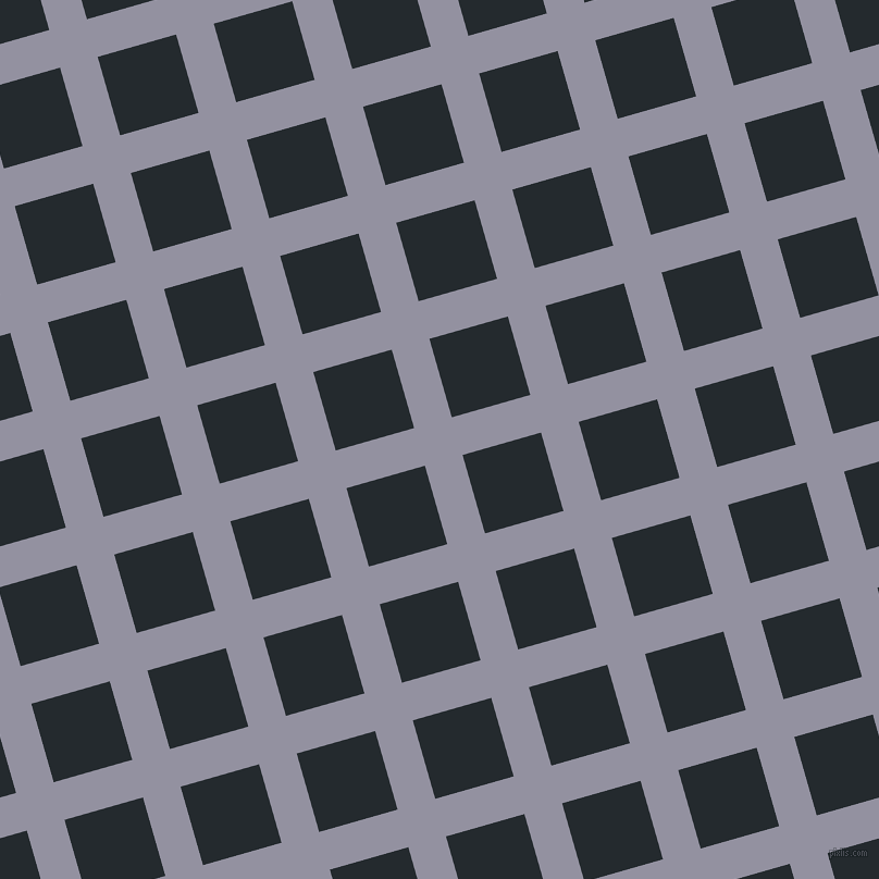 16/106 degree angle diagonal checkered chequered lines, 36 pixel lines width, 75 pixel square size, Grey Suit and Cinder plaid checkered seamless tileable