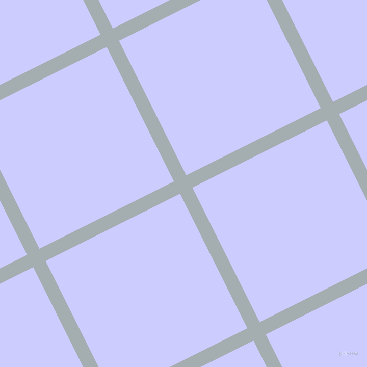 27/117 degree angle diagonal checkered chequered lines, 27 pixel lines width, 295 pixel square size, Gull Grey and Lavender Blue plaid checkered seamless tileable
