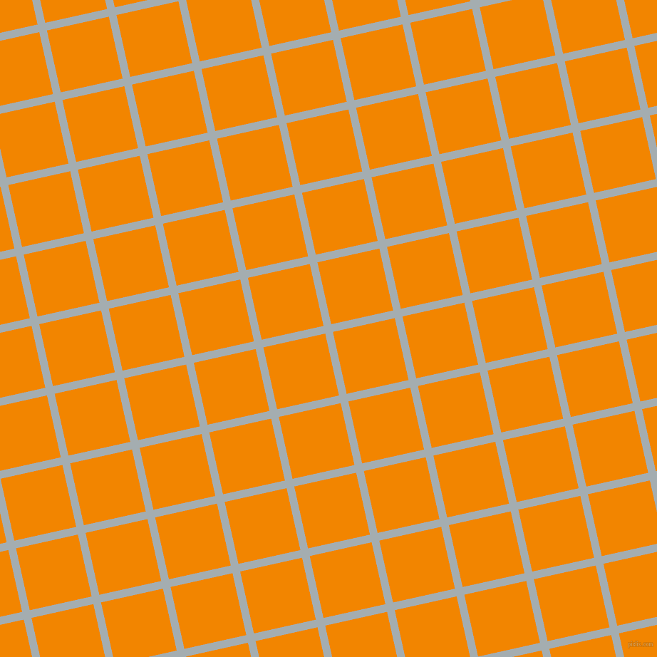 13/103 degree angle diagonal checkered chequered lines, 11 pixel line width, 89 pixel square size, Gull Grey and Tangerine plaid checkered seamless tileable