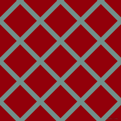 45/135 degree angle diagonal checkered chequered lines, 16 pixel lines width, 79 pixel square size, Gumbo and Sangria plaid checkered seamless tileable