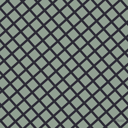 42/132 degree angle diagonal checkered chequered lines, 8 pixel lines width, 29 pixel square size, Haiti and Pewter plaid checkered seamless tileable