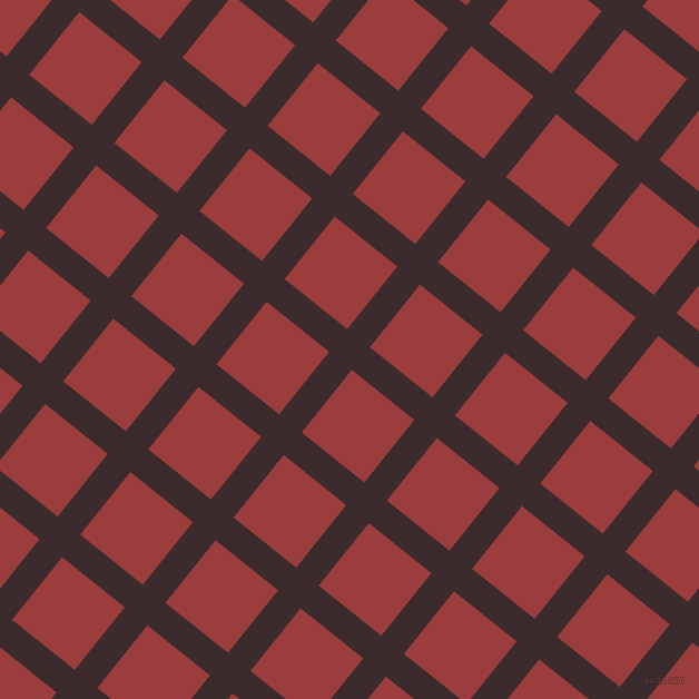 51/141 degree angle diagonal checkered chequered lines, 26 pixel line width, 72 pixel square sizeHavana and Mexican Red plaid checkered seamless tileable